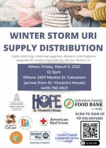Ice Storm Uri Recovery Event at St Vincent's House